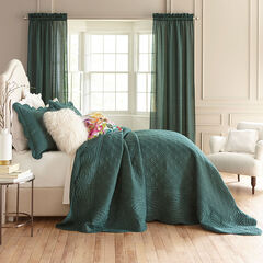 Florence Oversized Bedspread, EVERGREEN