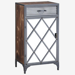 Trent Collection Mirrored Cabinet, MULTI