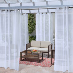 No Se'Um Insect Repellent Outdoor Curtain, WHITE