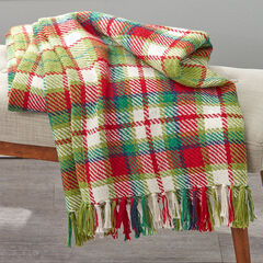Plaid Tassel Throw, CHRISTMAS