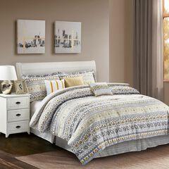Chloe Yellow 7-Piece Comforter Set, YELLOW
