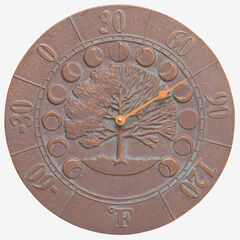 Times and Seasons Thermometer, COPPER VERDIGRIS