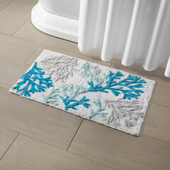 Coral Reef Bath Mat, BLUE MULTI