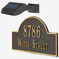 Illuminator Solar Address Lamp , BLACK