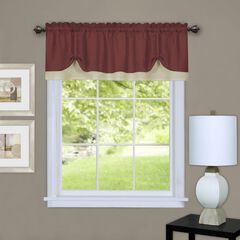 Charlotte Window Curtain Valance, MARSALA TAN
