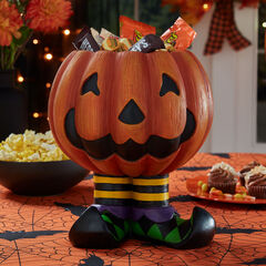 Jack-O-Lantern Candy Bowl, ORANGE