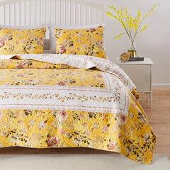 Finley Yellow Quilt Set, YELLOW