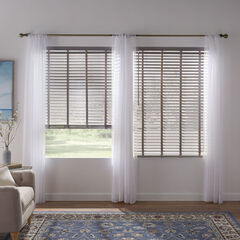 """2"""" Faux Wood Cordless Blind , GREY"""