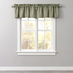 BH Studio Room-Darkening Rod-Pocket Valance, SAGE