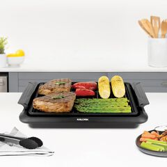 Black Electric Indoor Grill , BLACK