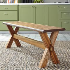 Forest Retreat Trestle Bench , WOOD