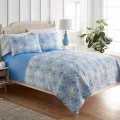 Seersucker 6-in-1 Quilt Set, BLUE