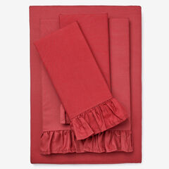 BH Studio Microfiber Sheet Set, RED