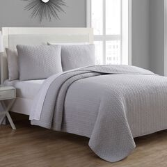 Estate Collection Tristan Quilt Set, SILVER