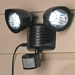Solar Motion Sensor Security Light, BLACK