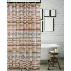Phoenix Tan Shower Curtain , TAN