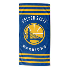 Warriors Stripes Beach Towel, MULTI