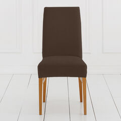 BH Studio Brighton Stretch Dining Room Chair Slipcover, CHOCOLATE