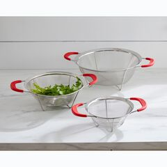 3-Pc. Stainless Professional Quality Mesh Colanders, STAINLESS