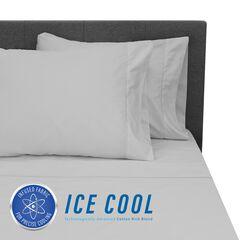 SensorPEDIC Ice Cool 400 Thread Count Cotton-Rich Grey Sheet Set, GREY