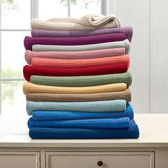 BH Studio Primrose Cotton Blanket, CORAL