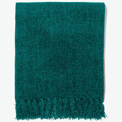Chenille Throw, EVERGREEN