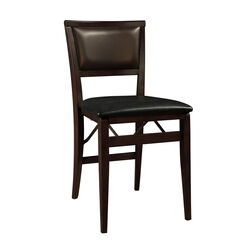 Keira Pad Folding Chair, ESPRESSO