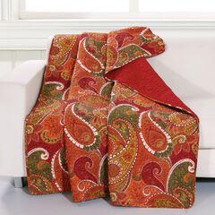 Greenland Home Fashions Tivoli Quilted Throw Blanket, CINNAMON