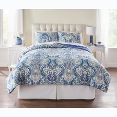 BH Studio 3-Pc. Microfiber Comforter Set, BLUE