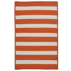 Bay Stripe Orange Rug , ORANGE