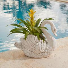 Swan Planter, IVORY