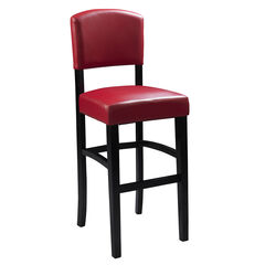 "Monaco Stool 24""H, ESPRESSO RED"