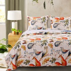 Barefoot Bungalow Willow Quilt and Pillow Sham Set, MULTI
