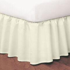 Magic Ruffle Bedskirt, IVORY