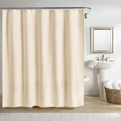 Sunset European Matelassé Shower Curtain, IVORY