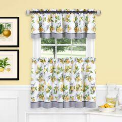 Lemon Drop Tier and Valance Window Curtain Set, YELLOW
