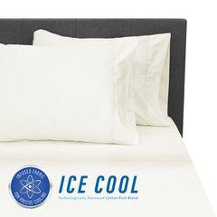 SensorPEDIC Ice Cool 400 Thread Count Cotton-Rich Cream Sheet Set, CREAM