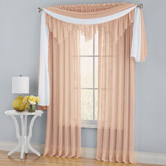 BH Studio Crushed Voile Rod-Pocket Panel, PEACH
