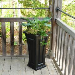 Mayne® Cambridge Tall Planter, BLACK