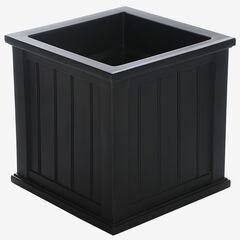 "Mayne® 20""Sq. Cape Cod Patio Planter, BLACK"