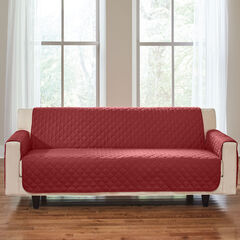 BH Studio Water-Repellent Microfiber Extra-Long Sofa Protector, MERLOT