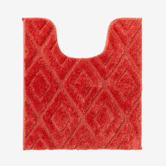 Diamond Contour Bath Rug, CORAL