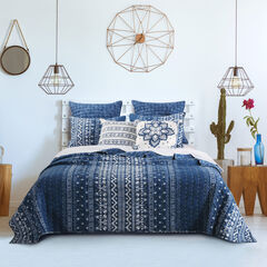 Embry Quilt Set , INDIGO