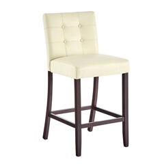 Aida Extra-Wide Bar Stool , ECRU