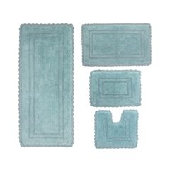 Casual Elegance 4-Pc. Bath Mat Set, AQUA