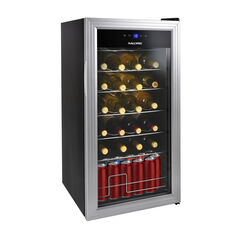 Kalorik 2-in-1 Wine and Beverage Center, Silver, SILVER