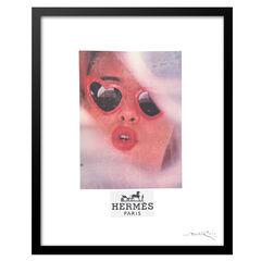 Hermes Lolita Heart Sunglasses - Red / Black - 14x18 Framed Print, RED WHITE