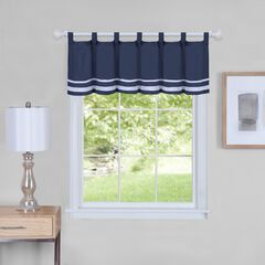"Dakota Window Curtain Valance 58"" x 14"", NAVY"