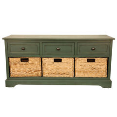 Montgomery Storage Bench, TEAL