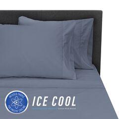 SensorPEDIC Ice Cool 400 Thread Count Cotton-Rich Dark Blue Sheet Set, DARK BLUE